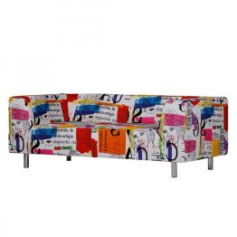 Sofa Print (3-Sitzer) - Druckstoff Bunt