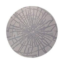 Teppich ESPRIT Wood - Grau - Durchmesser: 250 cm
