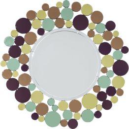 Spiegel: Modern Retro Vom Zeitgeist der 70er Jahre inspirierter Spiegel und elegantes Schmuckstück. Feine Handwerksarbeit. Alle Rundspiegel handgeschliffen. Wertet jede Garderobe oder Wohnbereich auf. Weitere Ausführungen.