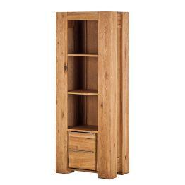 Das Massivholzregal Tomano für eine naturnahe Einrichtung Möbel aus hochwertigem Eichenholz wie das Massivholzregal Tomano von Home24 besitzen eine faszinierende Ausstrahlung. Die schöne Maserung und die gut sichtbaren Jahresringe des Holzes vermitteln einen sehr natürlichen und hochwertigen Eindruck. Das schlichte und elegante Design dieses Regals bringt die einzigartige Struktur von Eichenholz hervorragend zur Geltung. Mit seinen Maßen (BHT: 70cm x 180cm x 42 cm) passt dieses Massivholzregal