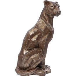 Deko Figur: Wildfang Die Deko Figur besticht durch die anmutige und stolze Haltung. Ganz in Kupfer und im angesagten Nietenlook