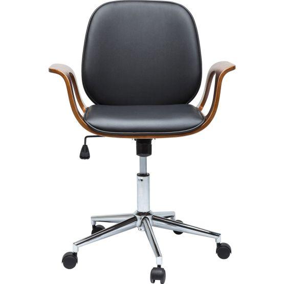Stuhl: Akzent aus Nussbaum Der Bürodrehstuhl Patron Walnut könnte ein ganz typischer Vertreter seiner Art sein