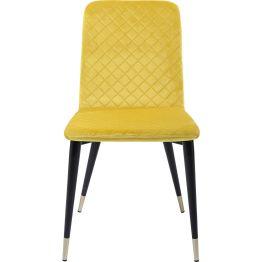 Stuhl: Design de luxe Dieser schicke Stuhl punktet mit dezentem Glamour und eleganten Details. Eine aufwendige Diamantsteppung ziert Sitz und Lehne. Eine leichte Polsterung und der weiche Bezug aus Samt sorgen für ein feines Sitzerlebnis. Edle Metallkartuschen an den Beinen komplettieren den luxuriösen Look. Dieser Polsterstuhl ist wie gemacht für gemütliche Gespräche beim Dinner und danach und er wertet jede Tafel stilvoll auf. In weiteren Ausführungen erhältlich.