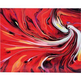 Bild: Leidenschaftlich dynamisch: Bild in ausdrucksstarken Farben Eine herrliche Orgie in leidenschaftlichem Rot: Das Bild Chaos Fire hält