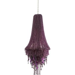 Hängeleuchte: Extravaganter Leuchten-Traum Die opulente Gestaltung wird durch das lila eingefärbte Glas stilvoll unterstrichen. Den exklusiven Look verdankt die Lampe aufwendiger Handfertigung und macht damit jedes Stück zu einem Unikat. Die Leuchte passt ideal zu einer modern-reduzierten Inneneinrichtung. In weiteren Farben erhältlich.