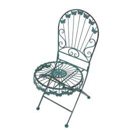 Gartenstuhl Schmetterling - Stahl - Grün