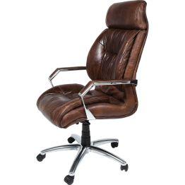 Stuhl: Feiner Ledersessel mit hohem Wohlfühlfaktor Egal ob in einem gemütlichen Homeoffice oder trendy inszeniert in einem modernen Büro
