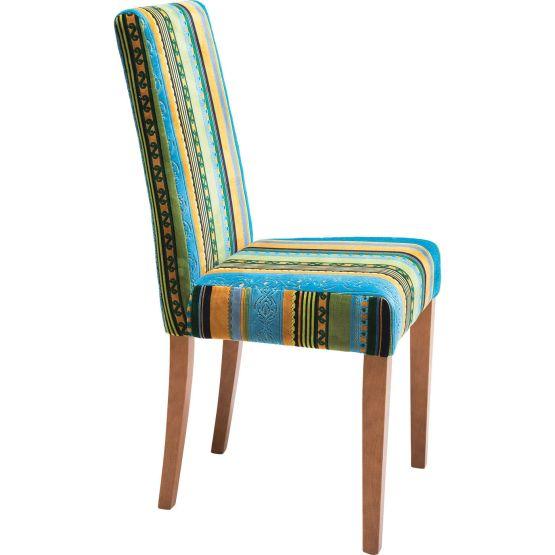 Stuhl: Stuhl mit erfrischend irischer Note Nach dem grandiosen Erfolg unserer Very British Linie wollten wir in einer blaugründigen Farbstellung eine weitere Alternative schaffen - und kreierten diesen Polsterstuhl. Bei der Suche nach dem passenden Bezug wurden wir ein weiteres mal in Flandern