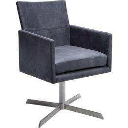 Stuhl: Komfortabler Drehstuhl in Créme Klassischer Drehstuhl mit modernem Anstrich. Dieser Drehstuhl macht in jedem Ambiente eine gute Figur. Die Polsterung sorgt für einen hohen Sitzkomfort. Das Gestell ist aus Edelstahl gefertigt. Der pflegeleichte Bezug überzeugt mit velourartiger Optik. In weiteren Ausführungen Farben erhältlich.