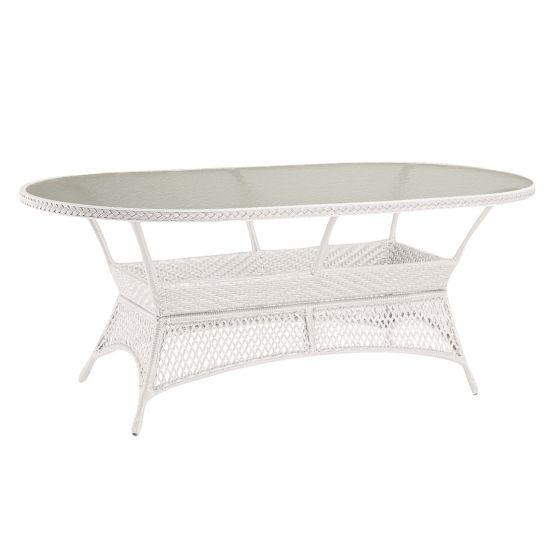 Gartentisch Madelene II - Polyrattan - Weiß