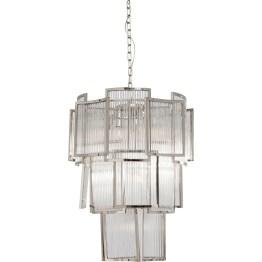 Deckenleuchte: Palast-Leuchte Hier wird Licht zur Skulptur. Diese luxuriöse Hängeleuchte sorgt für faszinierende Lichtspiele und strahlenden Glanz in jedem Ambiente. Aufwendig geschliffene und stufenförmig angeordnete Glaselemente machen Finestra zu einem eleganten und stilvollen Lichtobjekt. Passt sowohl in den Altbau als auch ins moderne Loft.
