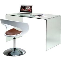 Schreibtisch: Gläserner Schreibtisch mit Retro Flair Der Clear Club Schreibtisch besticht mit seiner luftigen Note