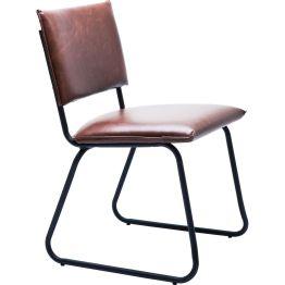 Stuhl: Cool Brown Chair Großartige Kreationen bedürfen keines zusätzlichen Beiwerks – sie wirken aus sich heraus. Dieser ultralässige Designstuhl ist ein gelungenes Beispiel dafür. Er macht Purismus zum Vergnügen und gefällt durch seinen chilligen und zeitlos unaufgeregten Stil. In Kombination mit dem mattschwarz lackierten Rahmen