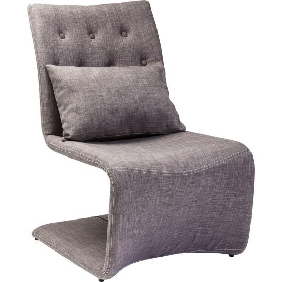 Stuhl: Hochwertig ausgestatteter Freischwinger Die Form bietet optimale Federung und ist leicht gepolstert. An der Rückenlehne sorgt eine Kapitonierung für stilvolle Akzente. Die Lieferung umfasst ebenfalls ein Kissen. In verschiedenen Farben vorhanden.