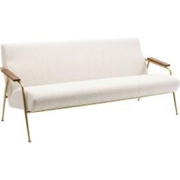 Die elegante Version der Wartebank: Sofa Topogan wirkt zwar filigran