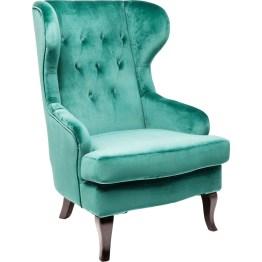 Wie liebevoll umarmt - so geborgen und gemütlich sitzt man in diesem klassischen Sessel. Ob die Ohrenbacken einst in seiner Heimat England erfunden wurden