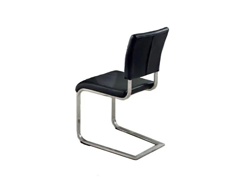 Niehoff Stuhlset 5561 Lara / Luna in Echtleder Brasil schwarz