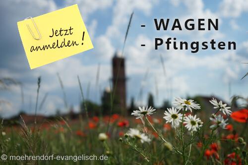 Anmelden für WAGEN und Pfingsten