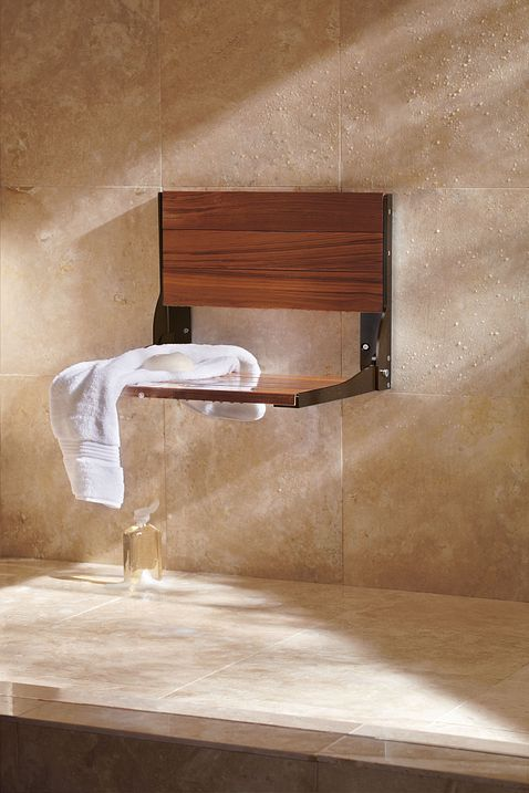 Bath Safety Teak Folding Shower Seat Dn7110owb Moen