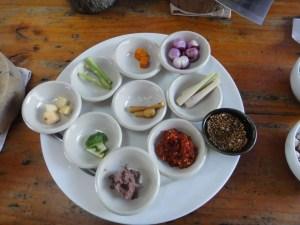 Gewürzmischungen rote Currypaste