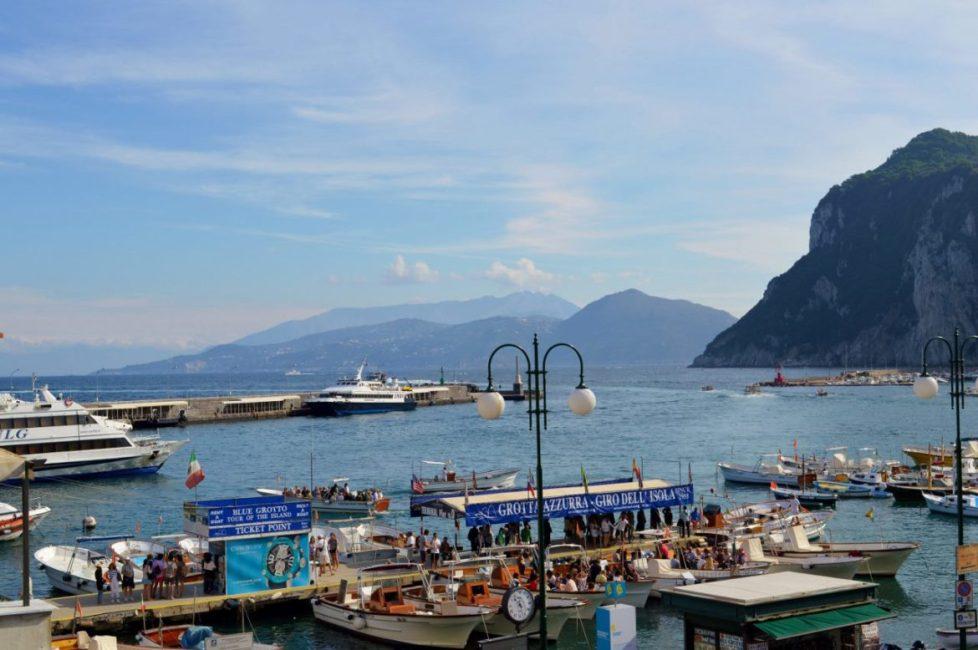 Views toward the mainland from Capri