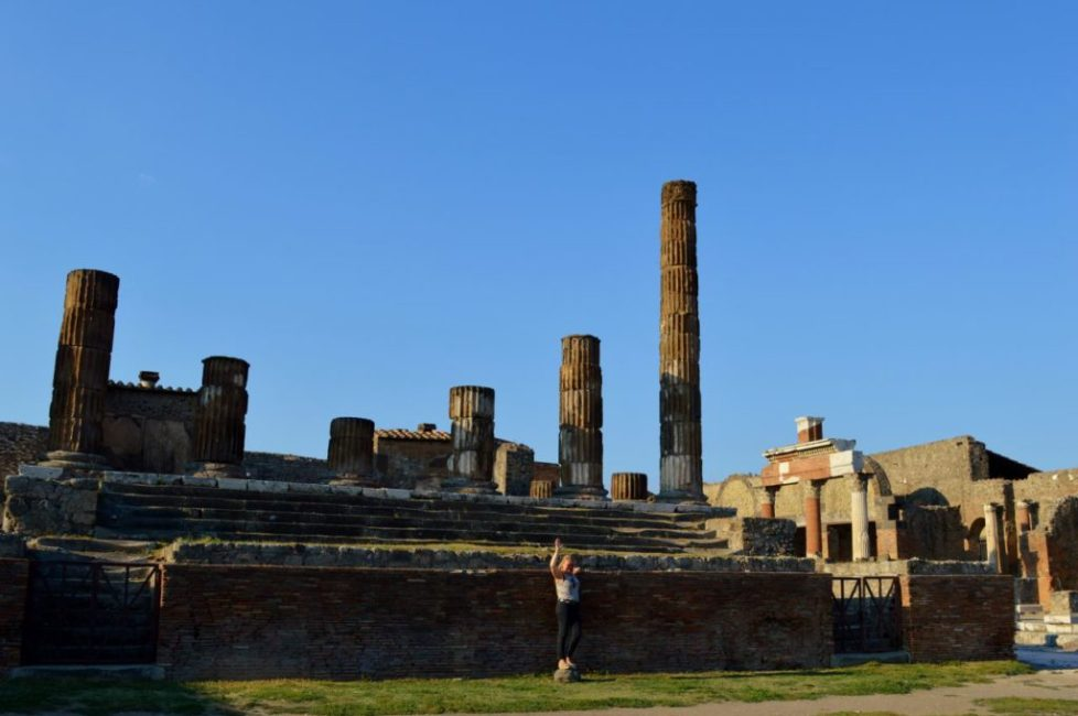 The remains of the Temple of Jupiter in Pompeii