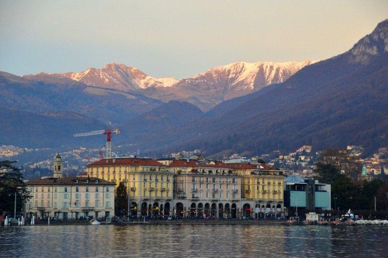 Lugano Switzerland from the water