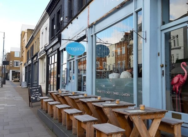 Megan's Cafe on New Kings Road in Fulham