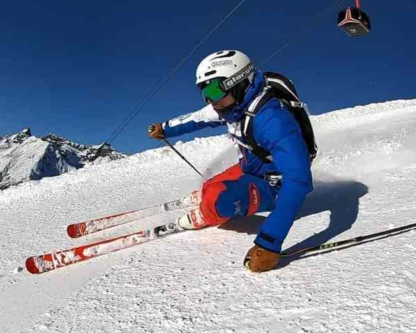 Carvingschwung im Privatunterricht Skigebiet Ischgl