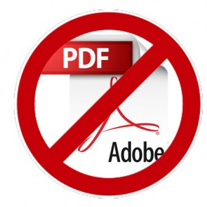 Say NO! to PDFs on websites