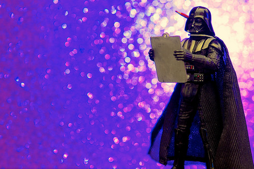 Darth Vader with a clipboard