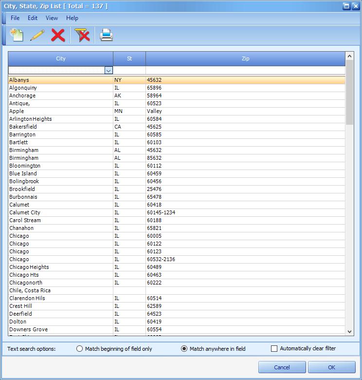 Patient Information Screen – City/State/Zip   MOGO