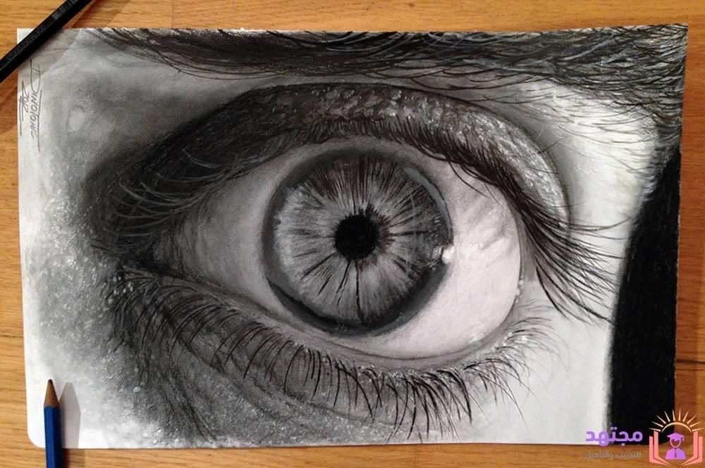 اكاديمية مجتهد كورس كامل لـ تعليم رسم العين خطوة بخطوة من البداية