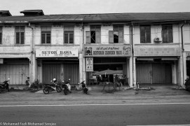 Row of shophouse in Pekan Kerling