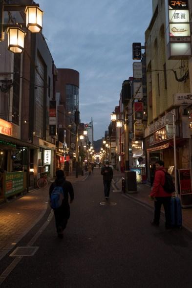 Kagoshima (Tenmokan) at night.
