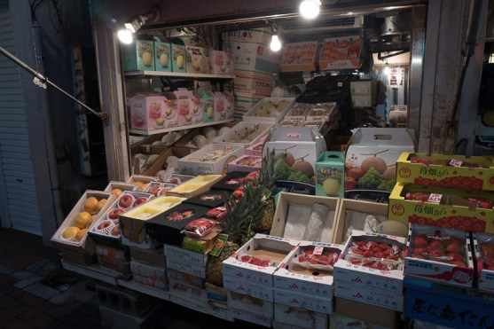 Stalls selling fruits