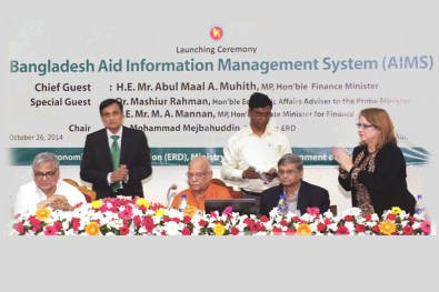 Launching Ceremony of Bangladesh Aid Information Management System (AIMS)