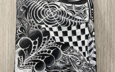 Zentangle Class: Black Tile
