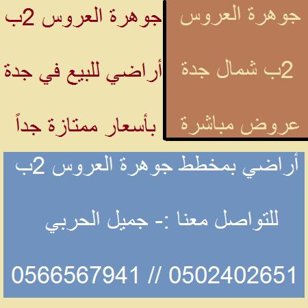 أراضي للبيع في جوهرة العروس 2ب