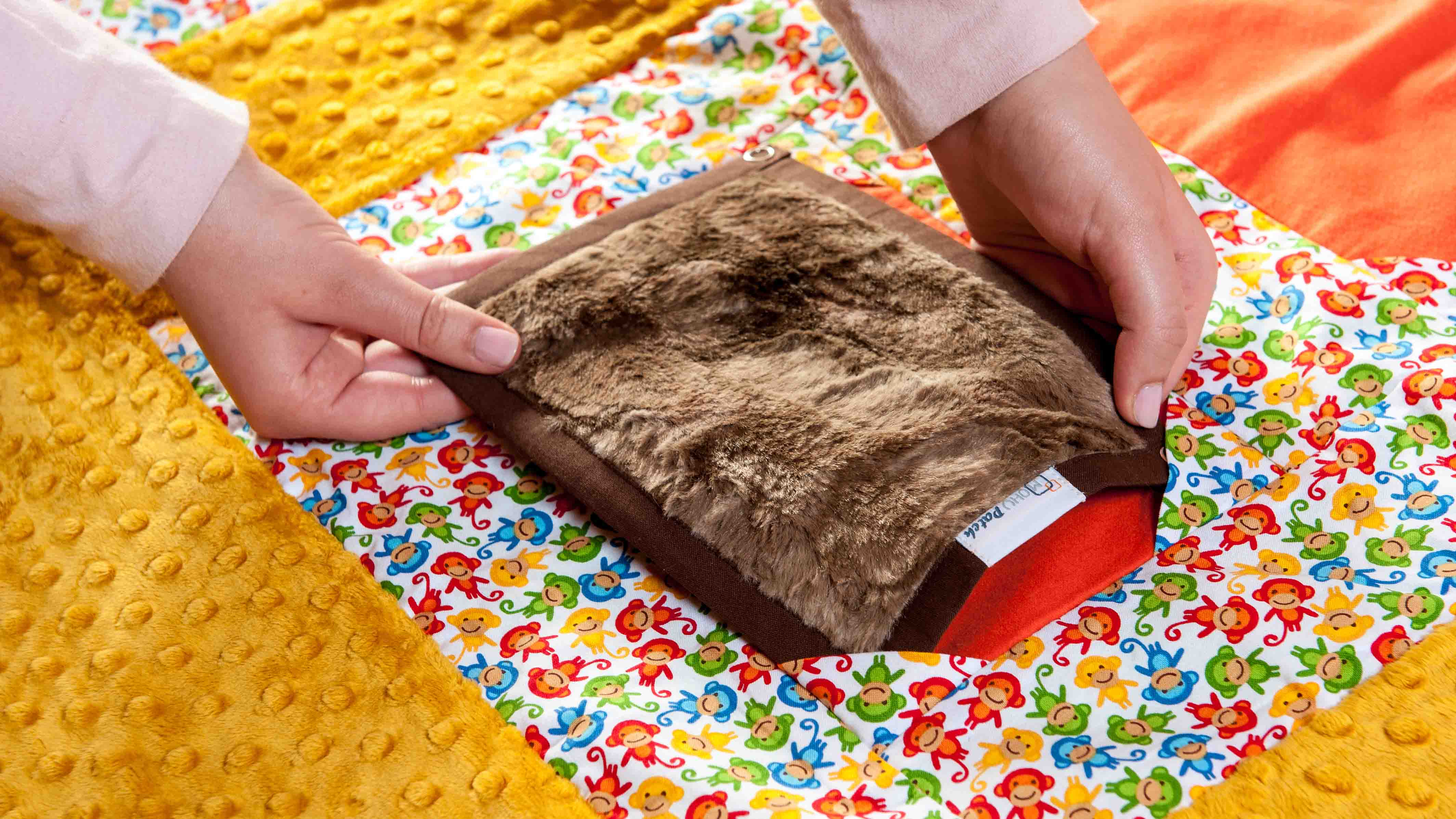 mohu-patch-brown-patchwork-sensory-comforter-occupationaltherapy-ireland