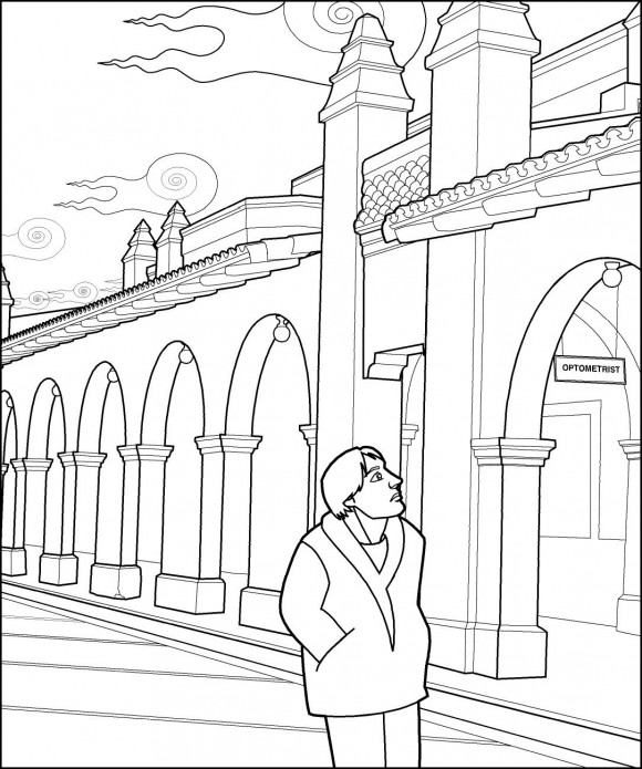 optical illusions coloring pages # 13