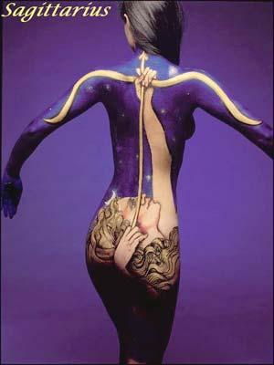 Zodiac Signs Through Body Art