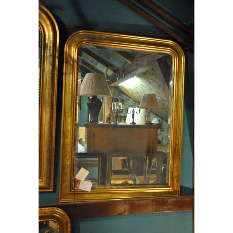 miroir style louis philippe en bois dore
