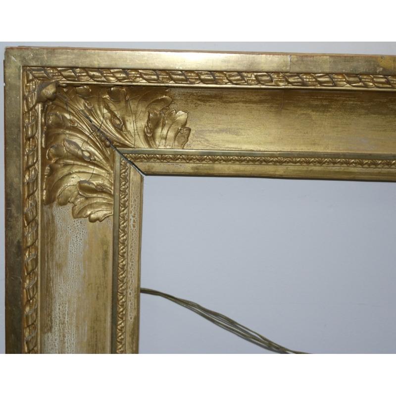 grand cadre style louis xvi en bois dore