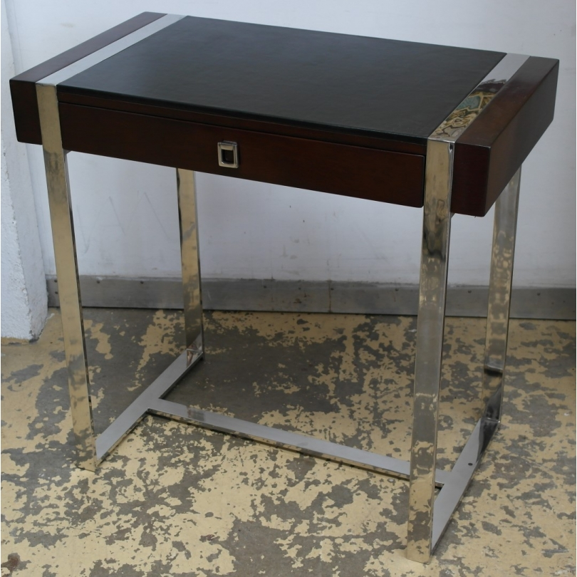 petit bureau oslo bois et fer dessus