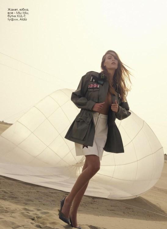 Jacket, skirt, all - Miu Miu, KUL-T boutique; shoes, Aldo