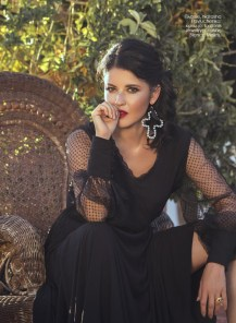 Dress, Natasha Pavluchenko; ring, Iordanis Jewelry; earrings, Bianca Makris.