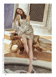 Jacket, dress, all - Galvan London, Rococо boutique; shoes, Guess