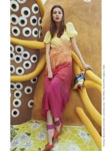 Dress, ankle bracelets, bag, all - The Attico, First boutique; shoes, Aldo