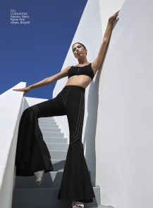 Top, Calzedonia; trousers, Ellery, First boutique; shoes, Bagatt